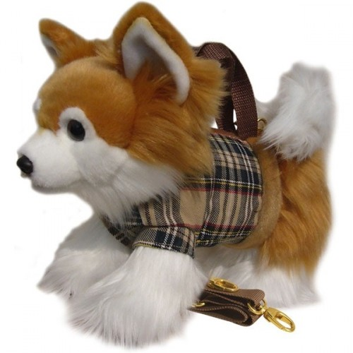 Chihuahua Long Coat Tartan Handbag  Image